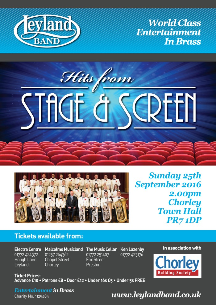 Matinee Concert Series III - Hits From Stage & Screen @ Chorley Town Hall | Chorley | England | United Kingdom