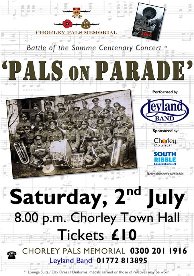 Pals On Parade @ Lancastria Suite, Chorley Town Hall | Chorley | England | United Kingdom