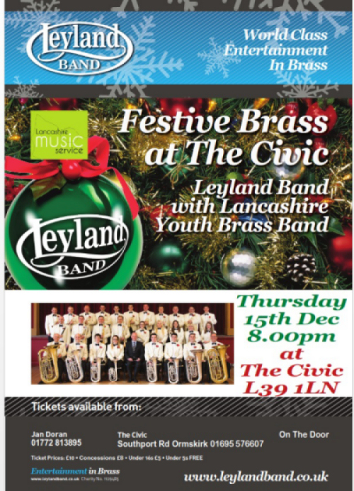 Lancashire's finest Festive Brass @ Ormskirk Civic Hall | Ormskirk | England | United Kingdom